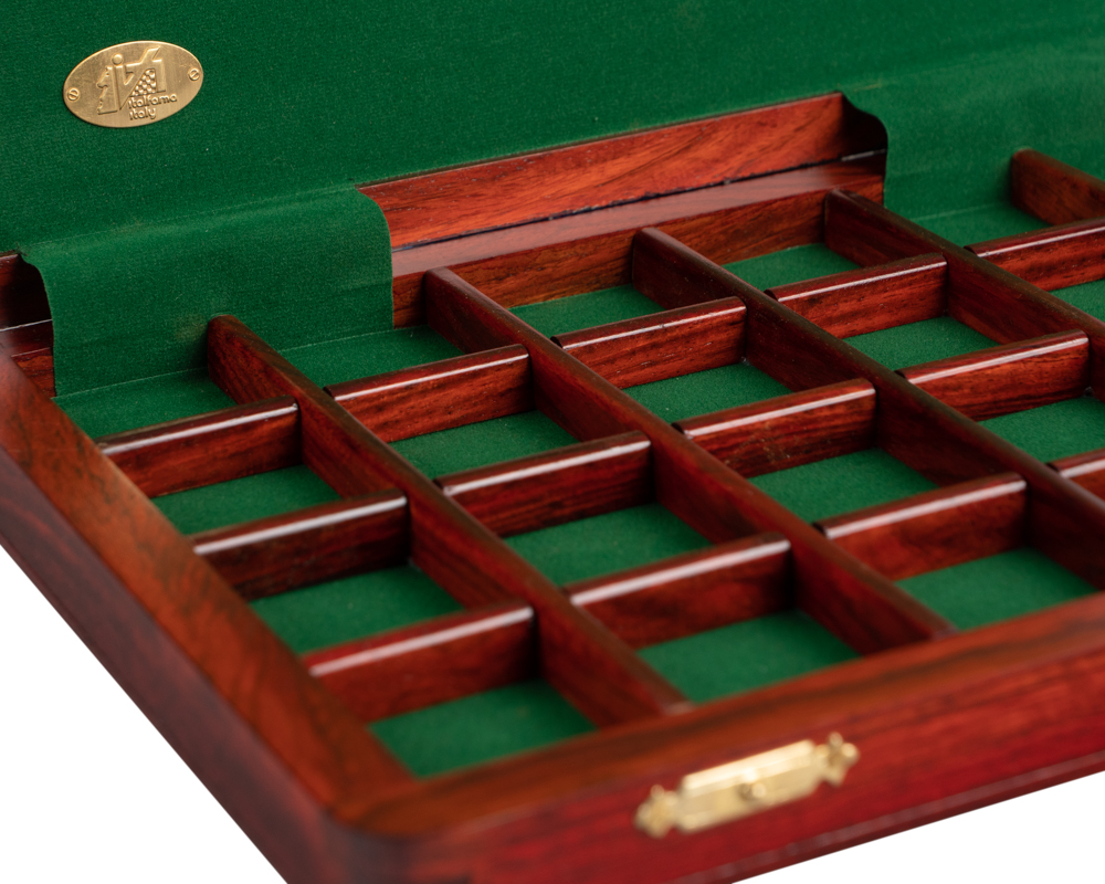 Italian luxury wooden draughts cabinet