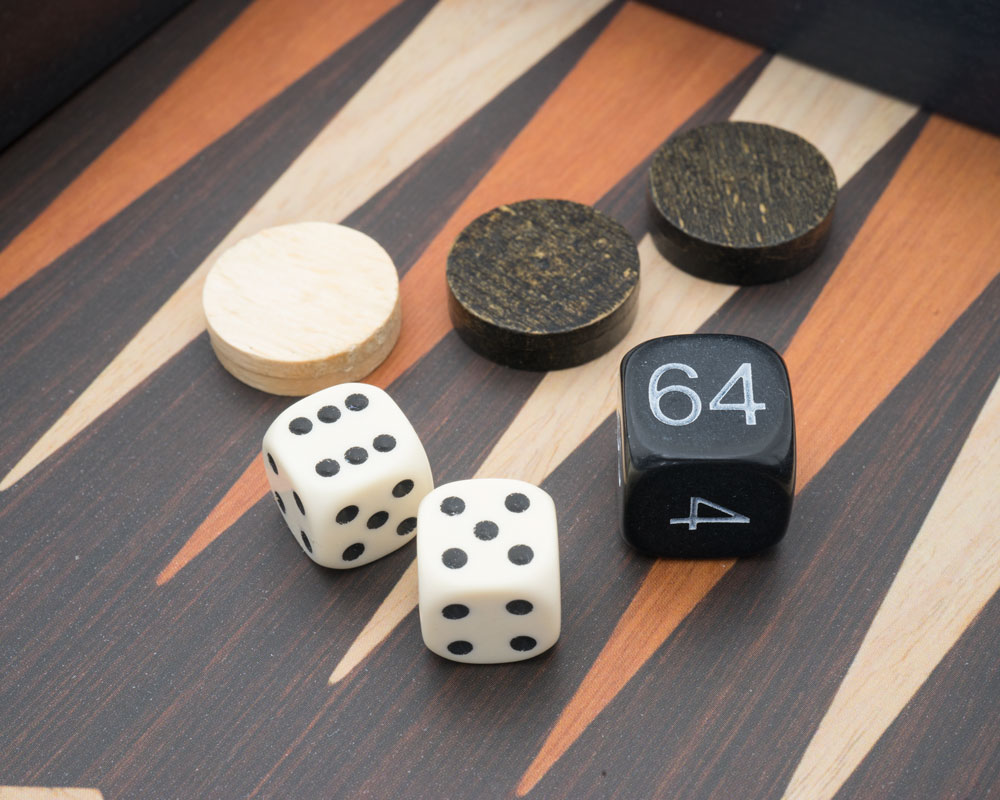 Travel Backgammon Set - The Manopoulos Wenge and Oak Edition