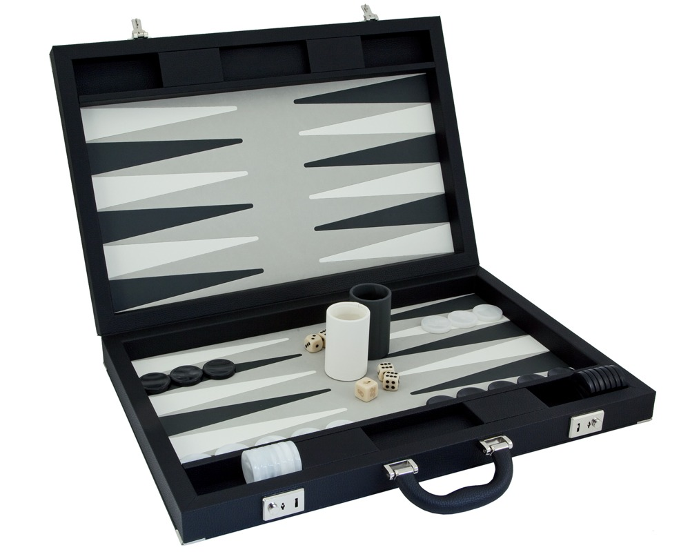 Dal Negro Luxury Backgammon Case in Black