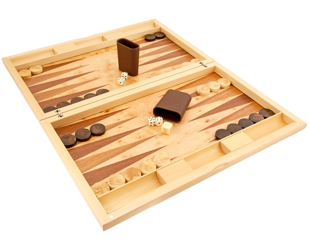 Dal Negro Poplar Root Luxury Backgammon Set