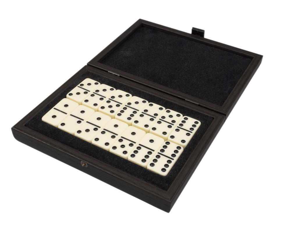 Manopoulos Luxury Dominoes Box Set Black