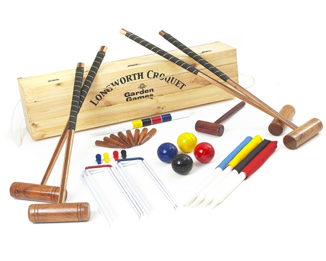 Longworth 4 Player Croquet Set in a Box