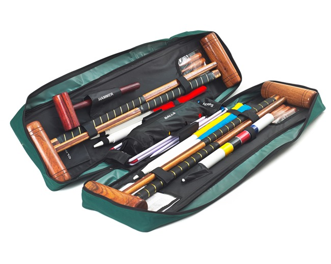 Longworth 4 Player Croquet Set with Tool Kit Bag