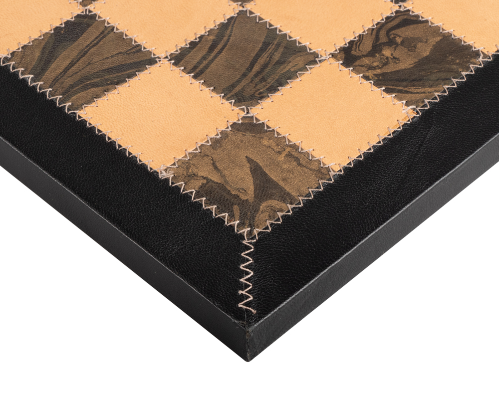 Saluzzo real leather luxury chess board 16.5 inch