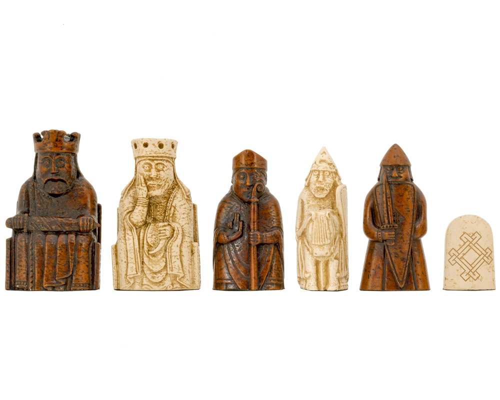 Isle of lewis chessmen by national museums scotland - The chessmen chess set ...