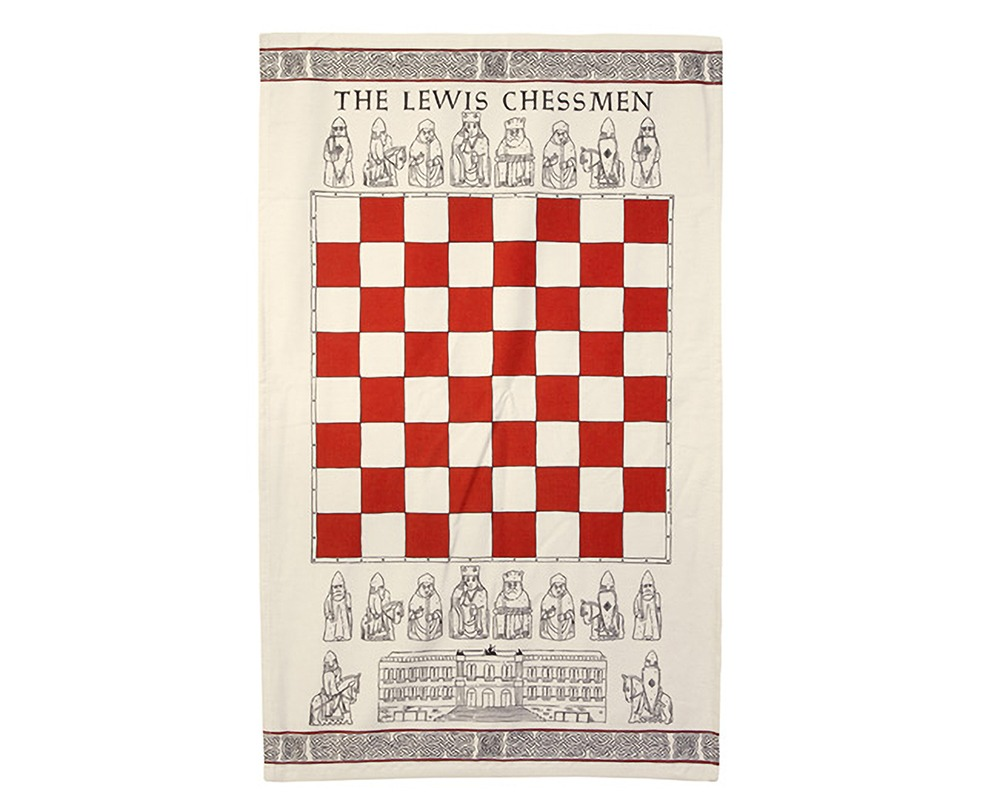The Lewis Chessmen Tea Towel