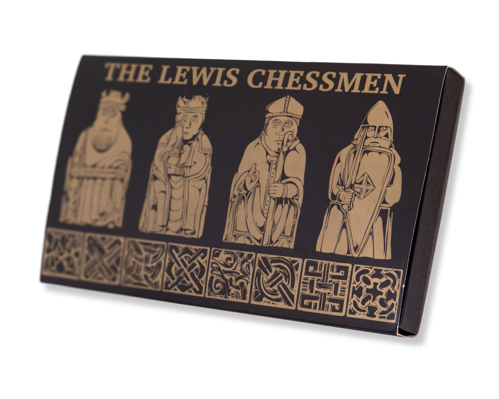 Miniature isle of lewis chess set by the british museum p33410 the regency chess - Lewis chessmen set ...