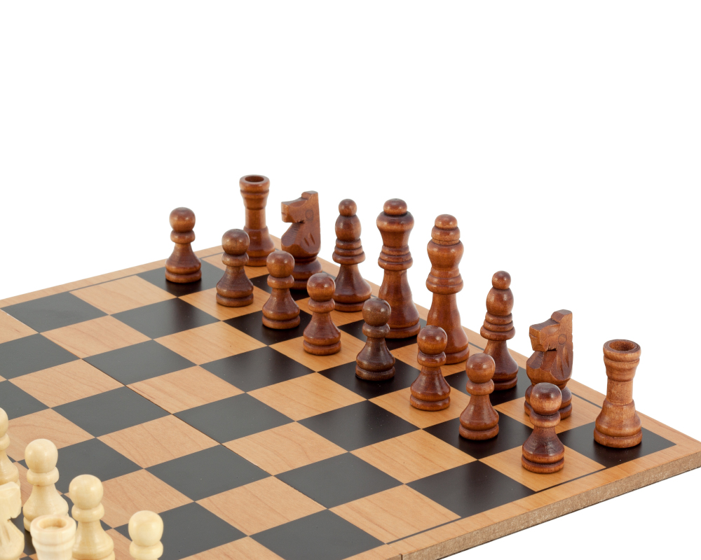 Compact Folding Wooden Travel Chess Set