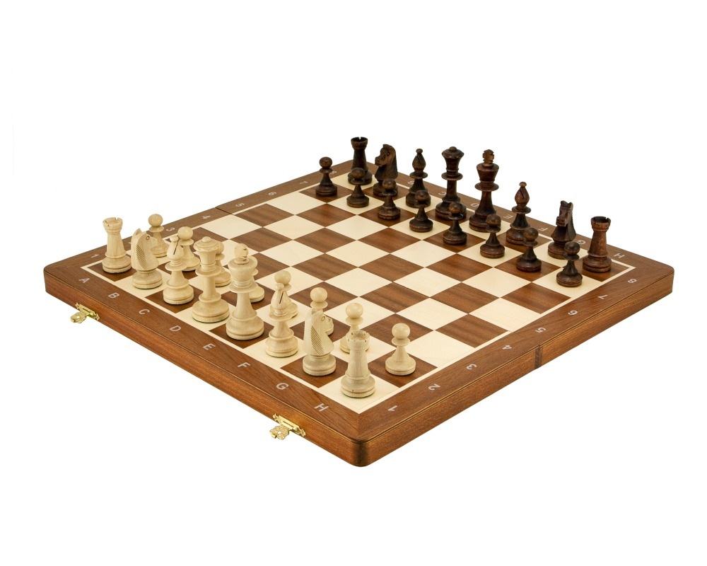 Large Folding Staunton Style Tournament Chess Set