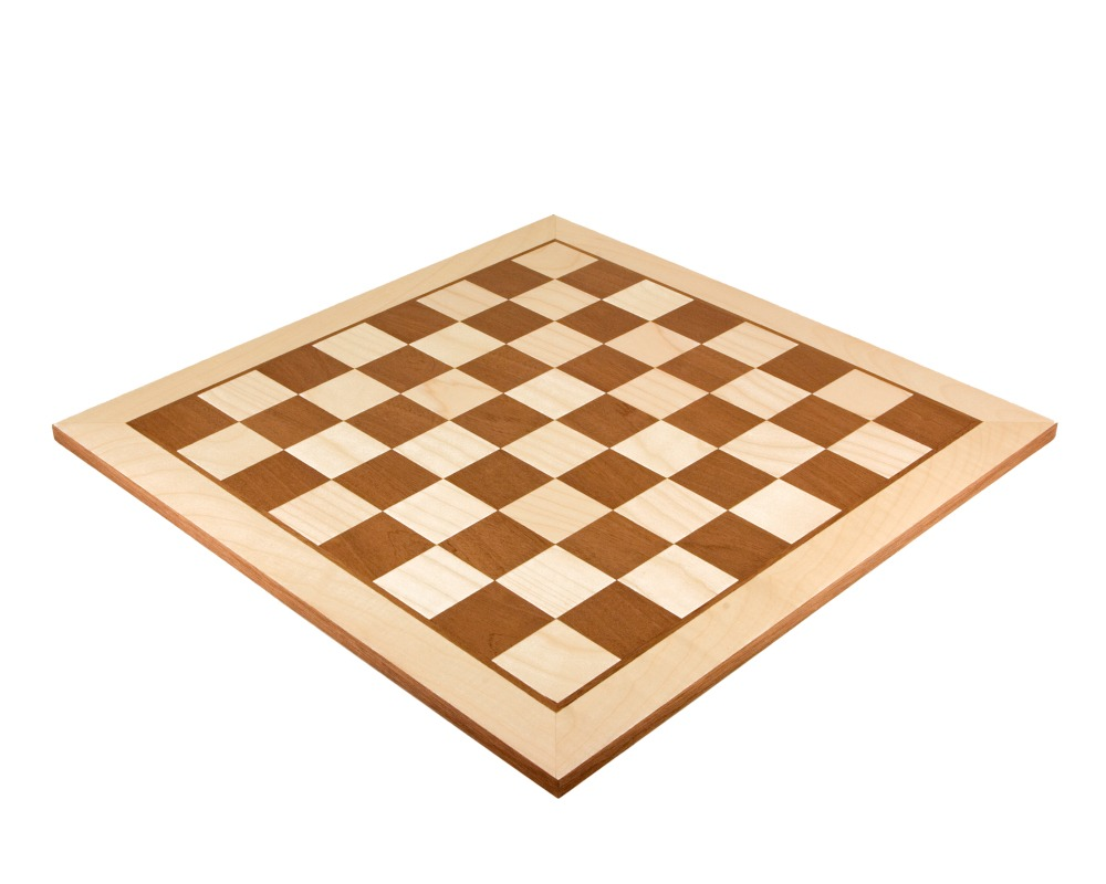 19 Inch Maple and Mahogany Inlaid Chess board