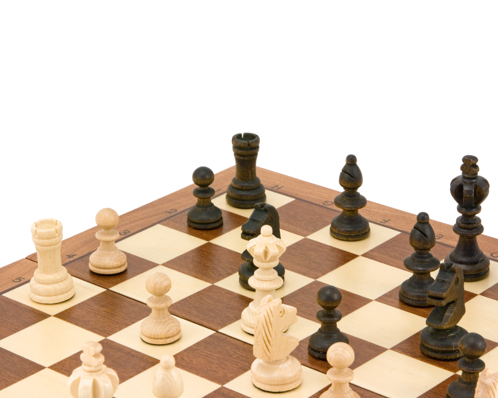 14 Inch Olympic Intarsy Folding Chess Set