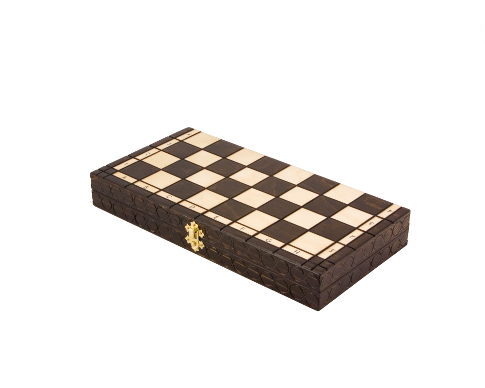 Charmant 14 Inch Pearl Folding Chess Set