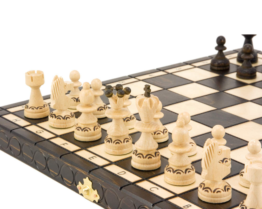 14 Inch Pearl Folding Chess Set