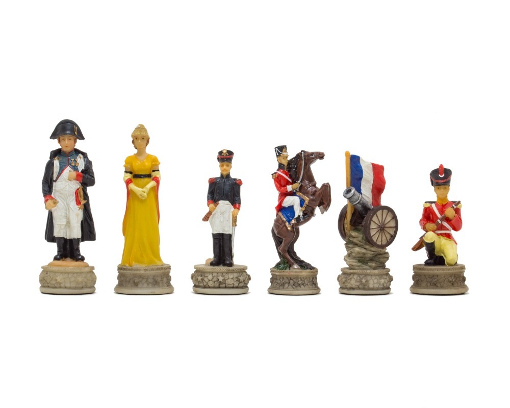 Battle of waterloo Hand painted themed chess pieces by Italfama