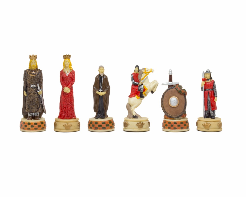 The England Vs Scotland Hand painted themed chess pieces by Italfama