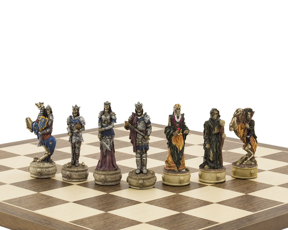 The Zombie Hand painted themed chess pieces by Italfama
