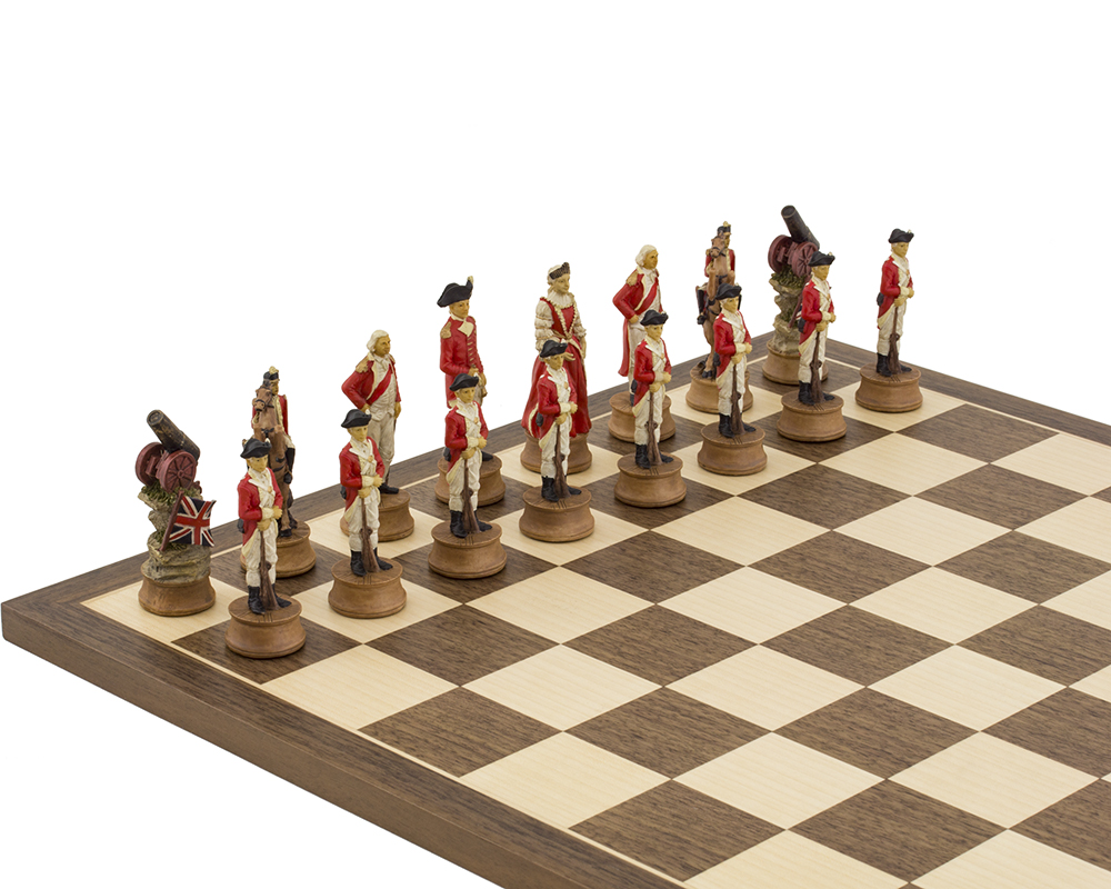 The American Revolution hand painted themed chess pieces by Italfama