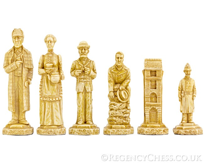 Sherlock Holmes Undecorated Chess Pieces 5 Inches