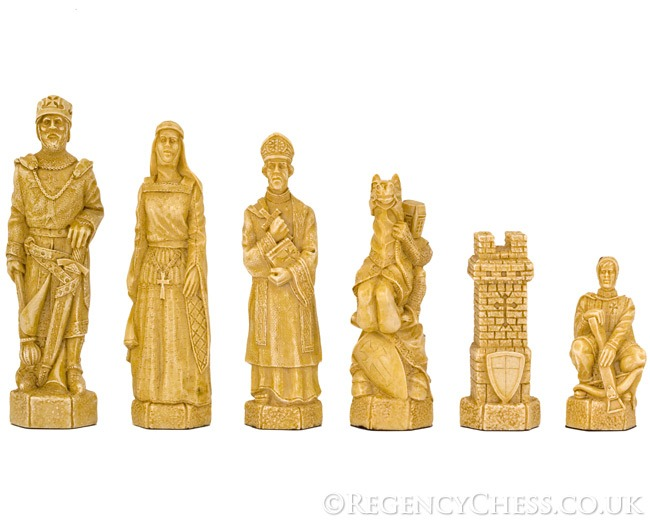 Crusades Figurative Chess Pieces Undecorated 5.5 Inches