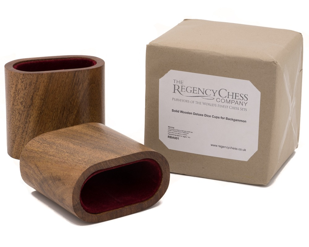 Solid Wooden Deluxe Dice Cups for Backgammon