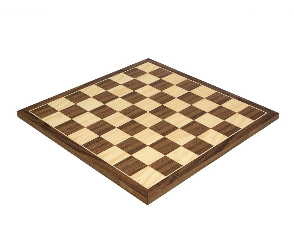 17.75 Inch Walnut and Maple Chess Board