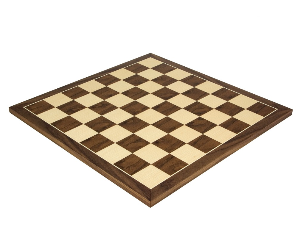 19.7 Inch Walnut and Maple Chess Board