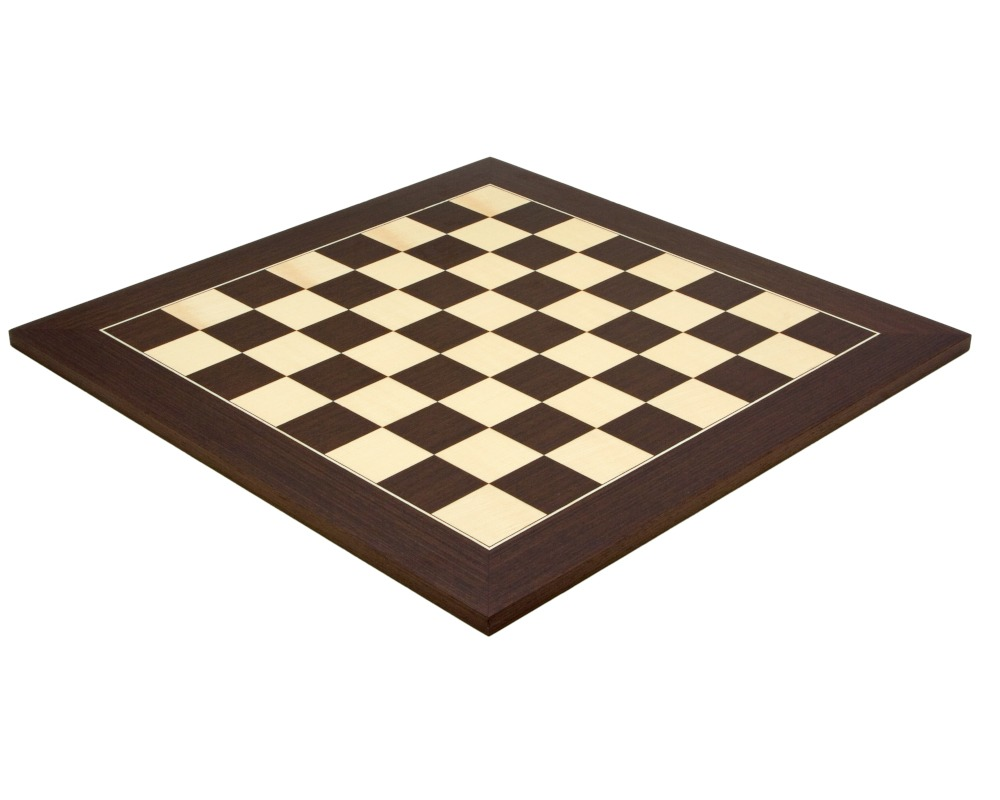 19.7 Inch Wenge and Maple Deluxe Chess Board