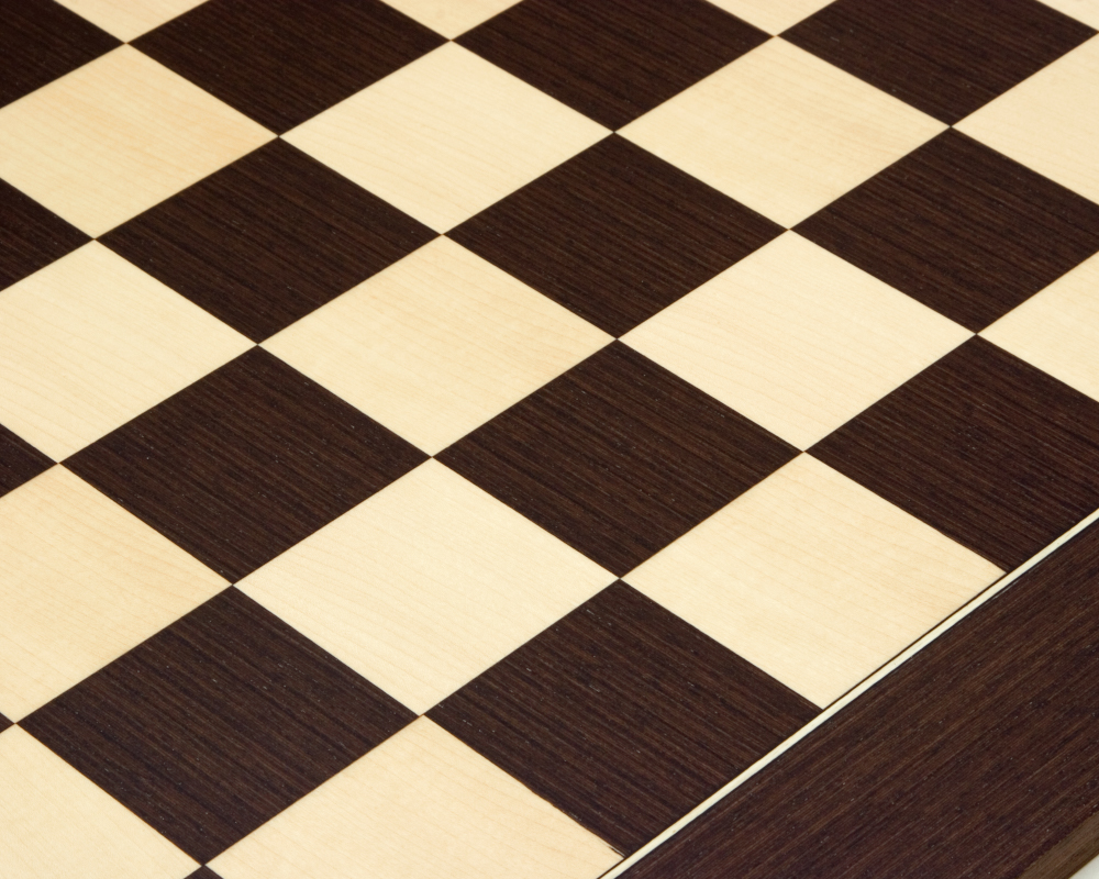 23.6 Inch Wenge and Maple Deluxe Chess Board