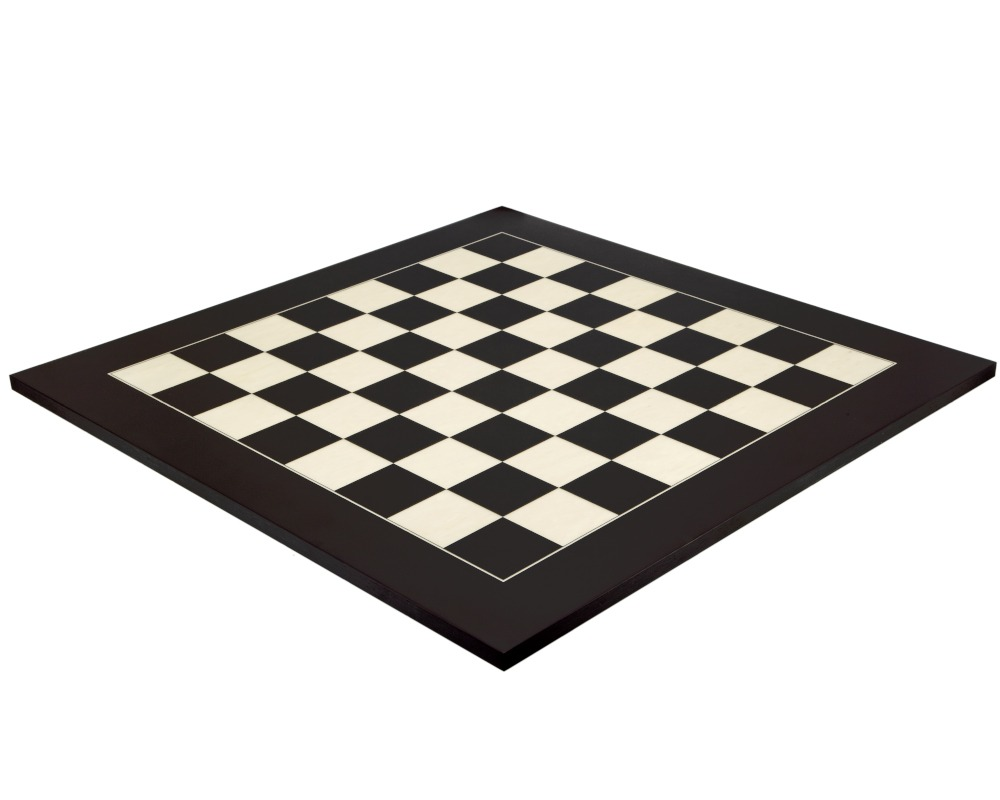 23.6 Inch Matt Black and Maple Deluxe Chess Board