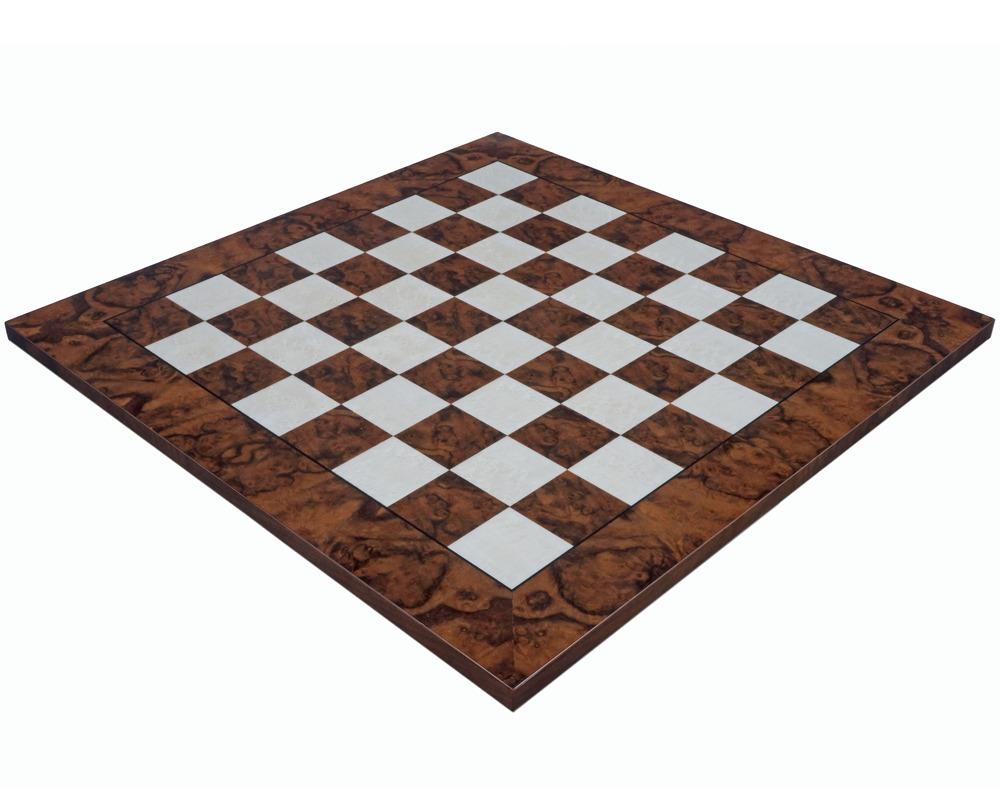 23 6 Inch Dark Walnut Burl Luxury Italian Chess Board Rcb089d 326 99 The Regency Chess Company The Finest Online Chess Shop