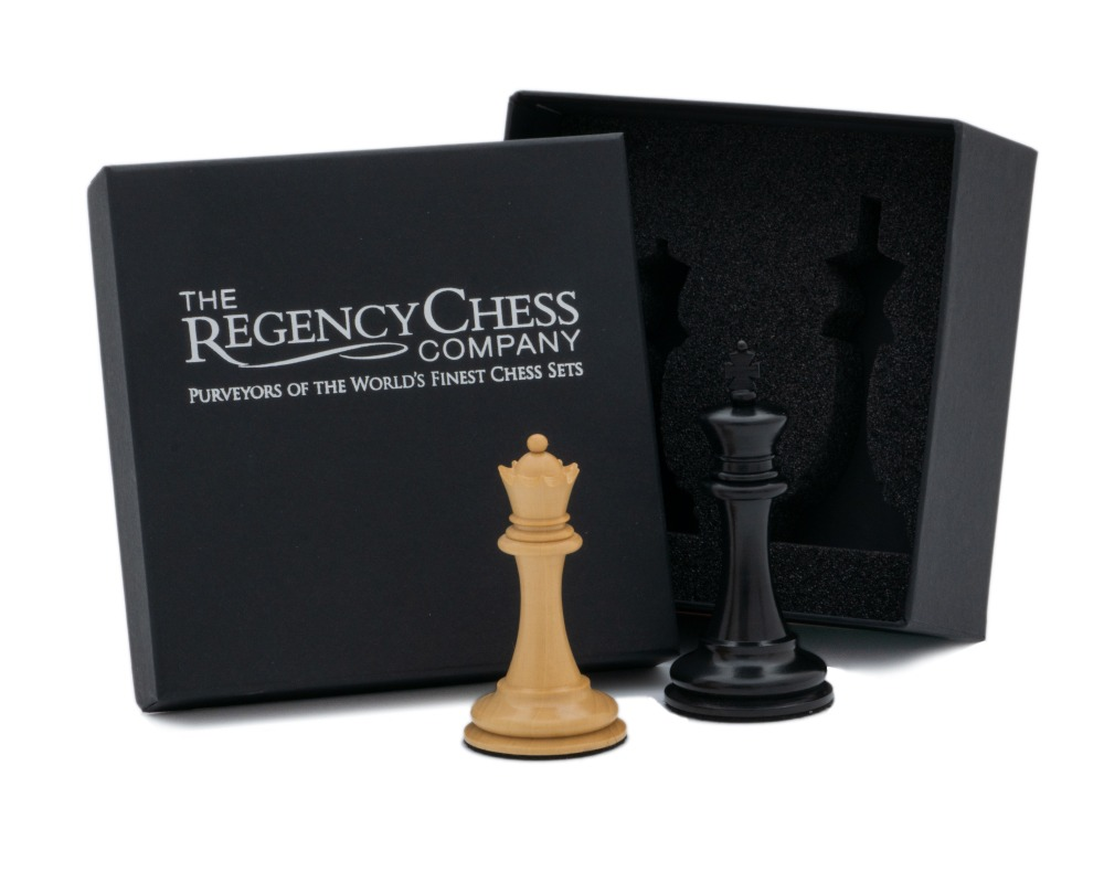 King and Queen Gift Set 3.5 inch in Ebony