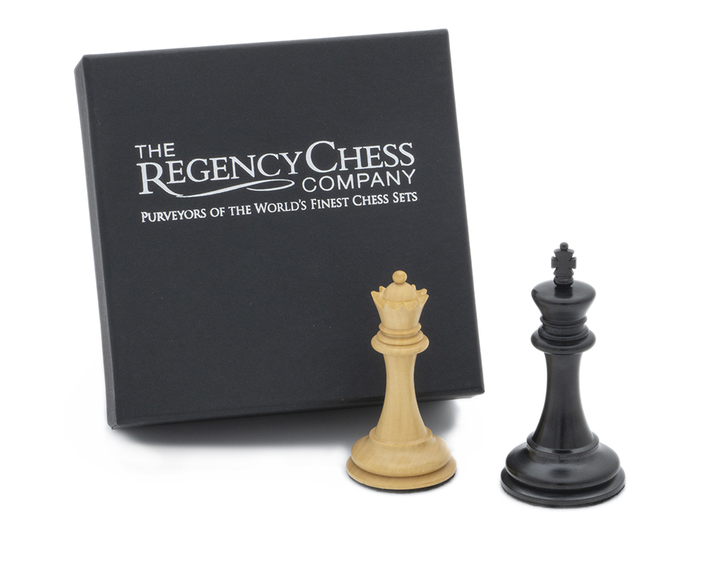 King and Queen Gift Set 3.5 inch Ebonised