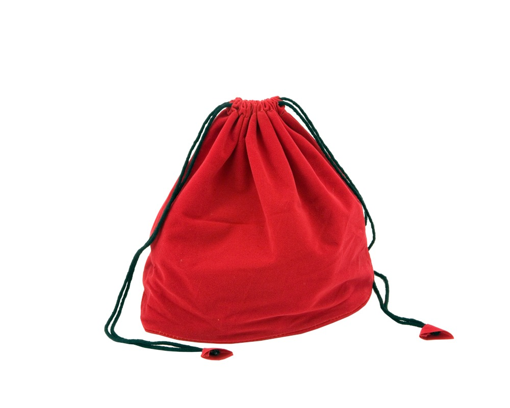 Red Draw String Chess Piece Bag