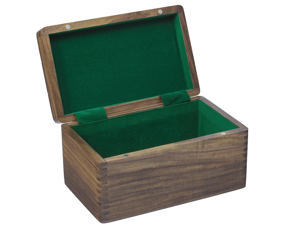 Polished Sheesham Chess Case with Hinged Lid 10 by 6 Inches