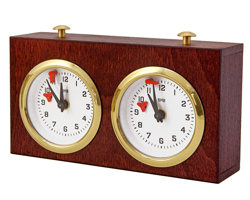 Wooden Turnier Chess Clock - Dark Wood