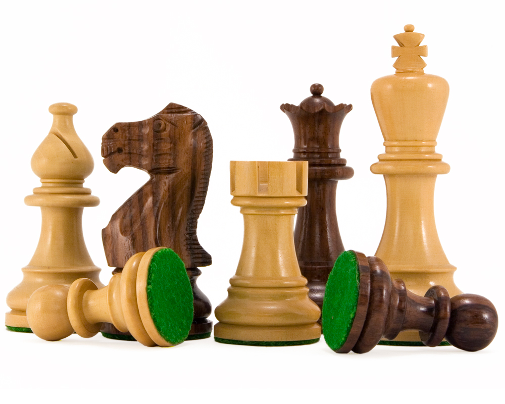Atlantic Series Rosewood Staunton Chess Pieces 3.75 Inches