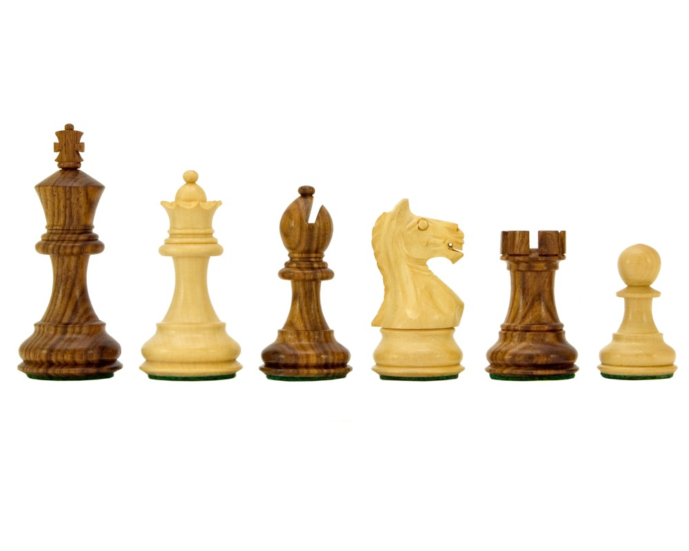 Fierce Knight Sheesham Staunton Chessmen 3 Inches Including Case
