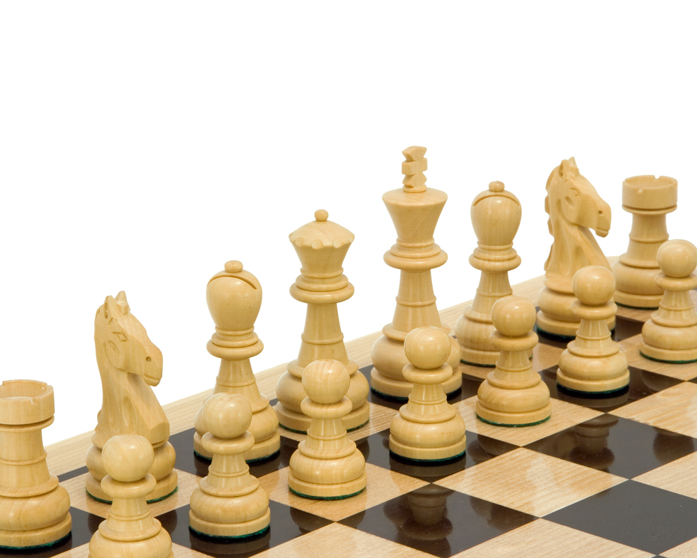 Emerald Series Ebonised Boxwood Chess Pieces 3.25 Inches
