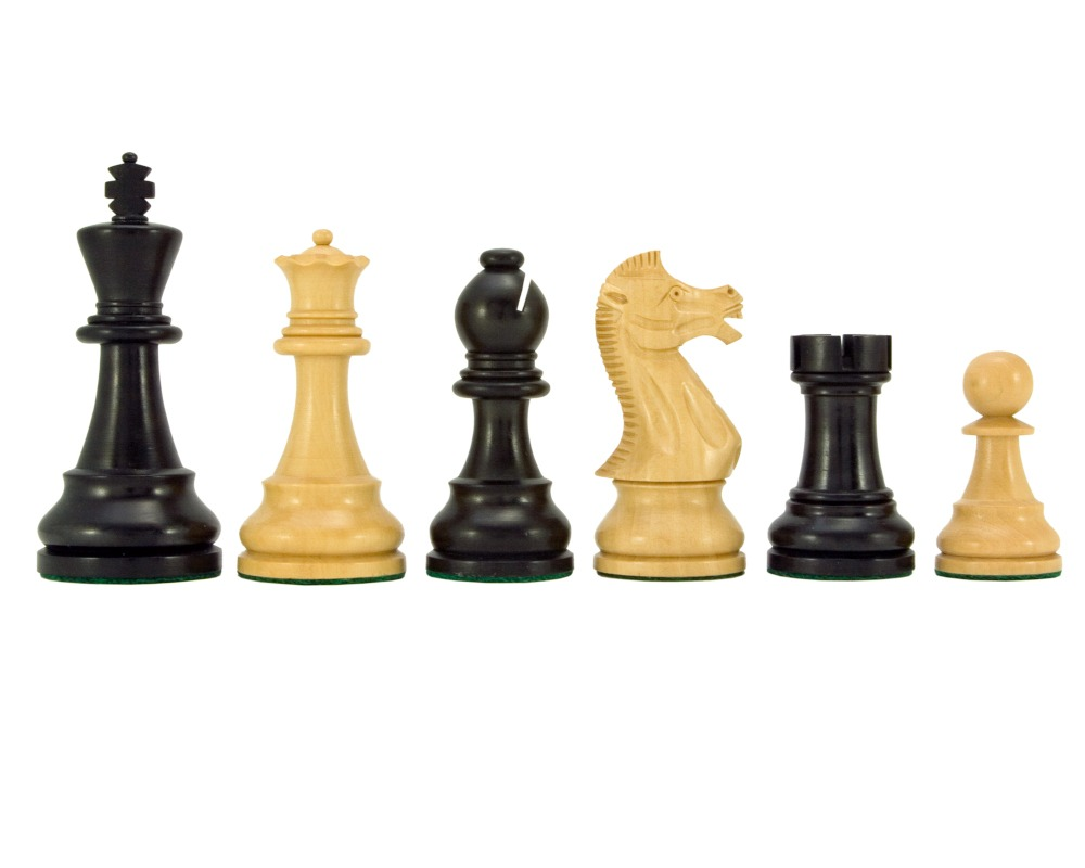Frankfurt Series Ebonised Boxwood Chess Pieces 4 Inches