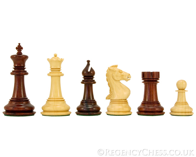 Madrid Series Rosewood Luxury Chess Pieces 4 Inches