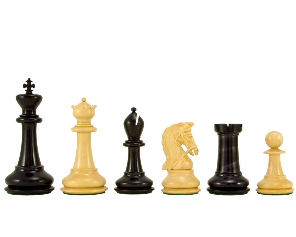 Monarch Series Ebony and Boxwood Luxury Chess Pieces 4.5 Inches
