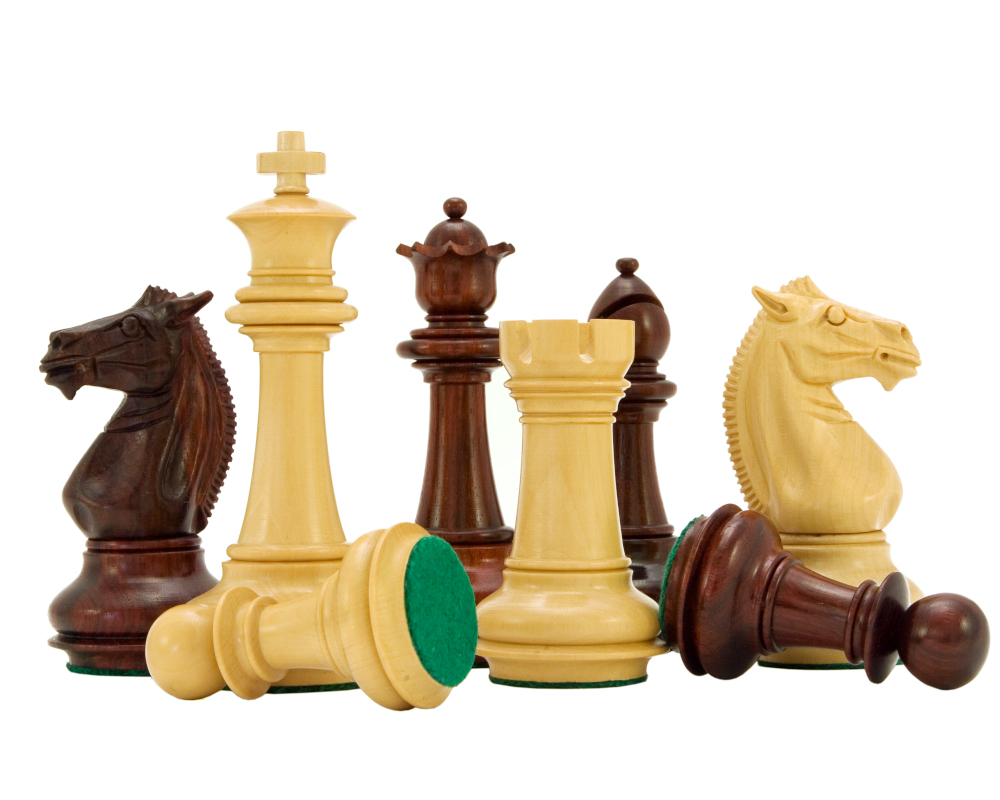 Templar Series Rosewood Luxury Chess Pieces 4 Inches