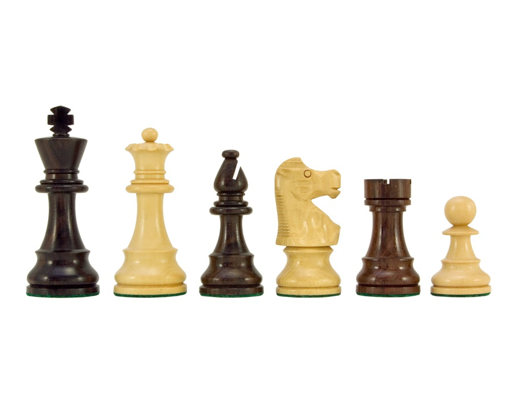 French Knight Series Rosewood Staunton Chess Pieces 3.25 Inches