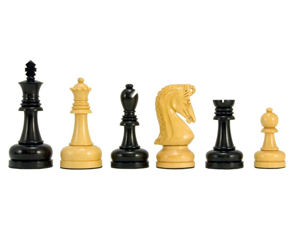 Byzantine Series Ebony and Boxwood Chess Pieces 4.25 Inches