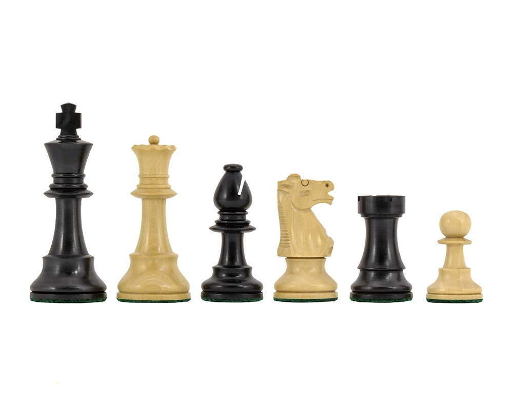 Conquest Series Ebonised Chess Pieces 4 Inches