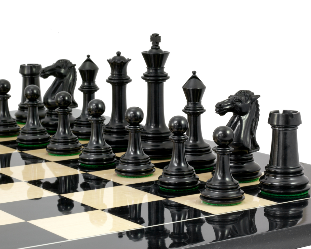Ebony chess pieces