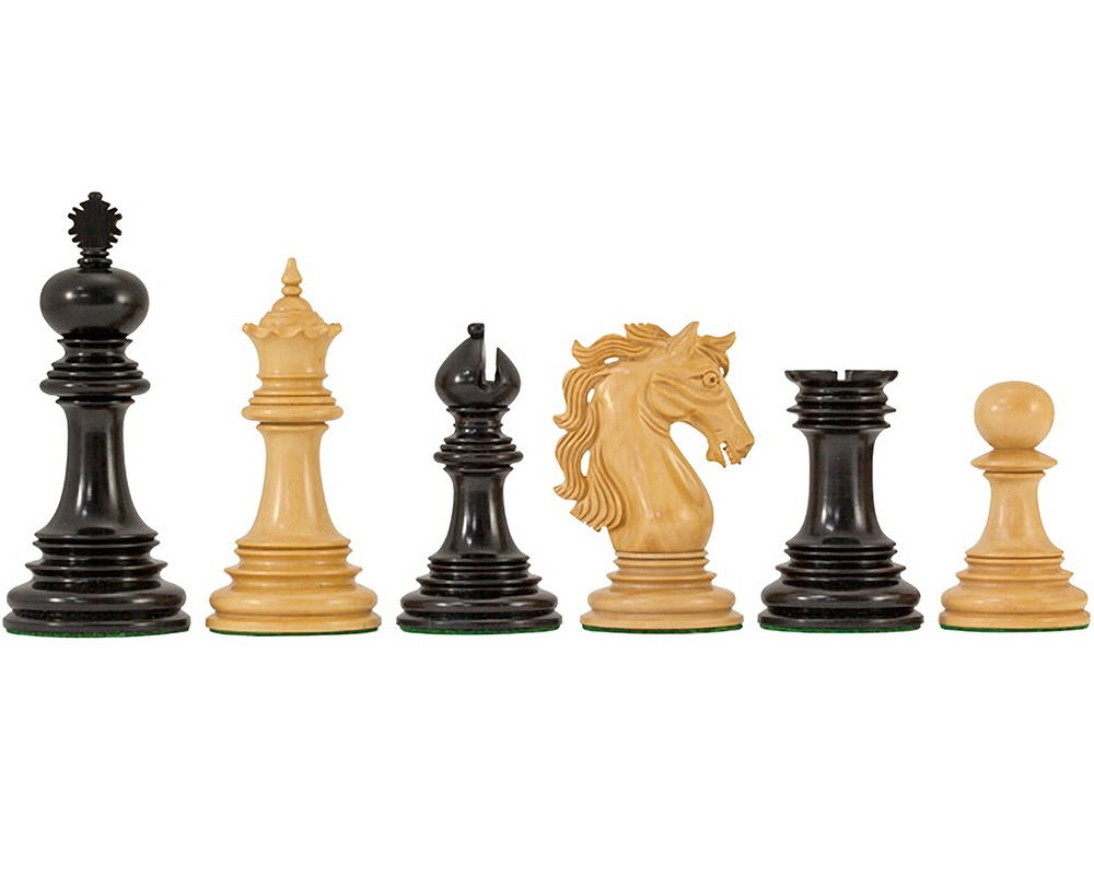 Constantine Luxury Ebony Chess Pieces 4.5 Inches