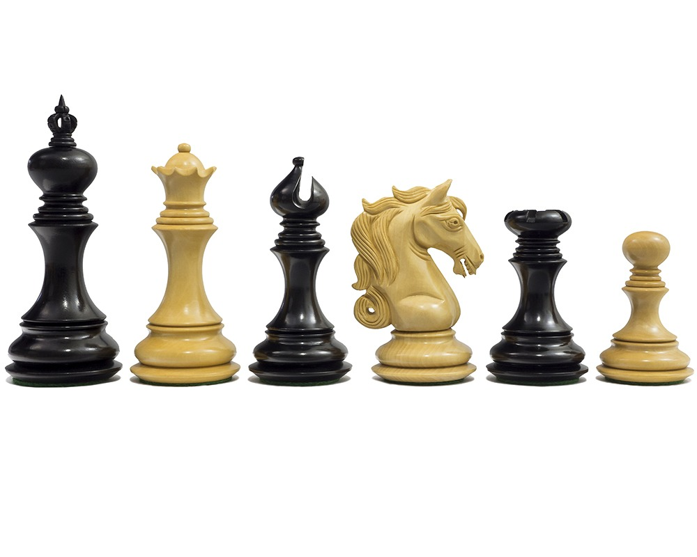 The Cavalry Series Chessmen Ebony 4.5""