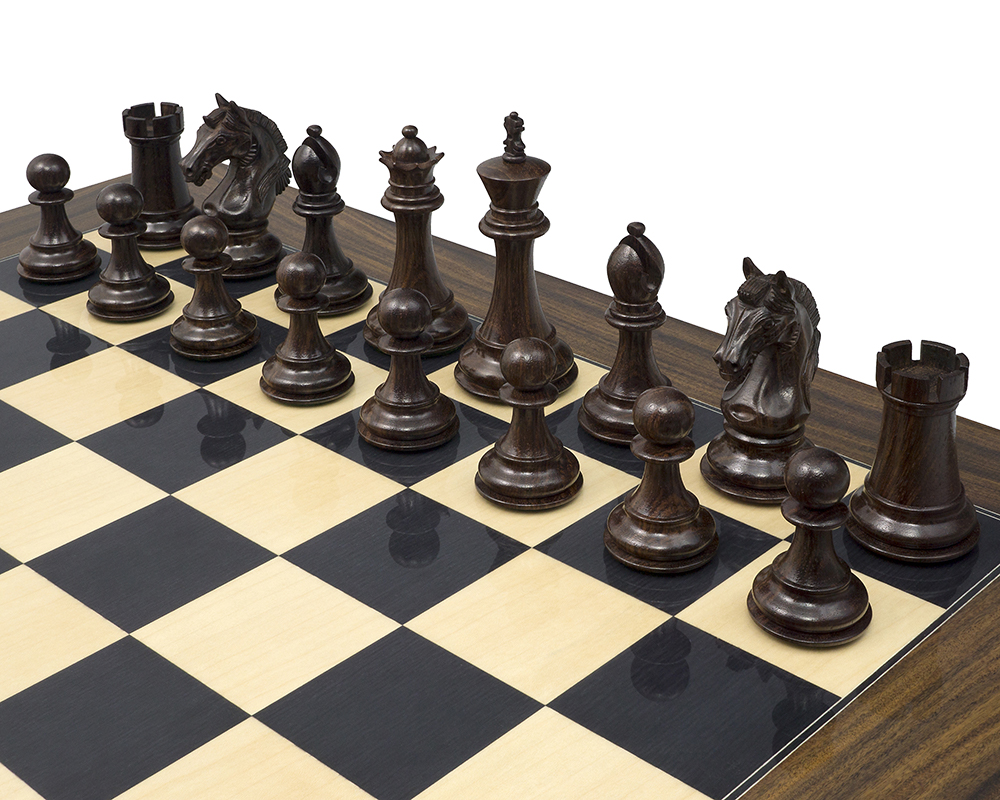 The Stretford Knight Rosewood Chessmen 4.25 inch
