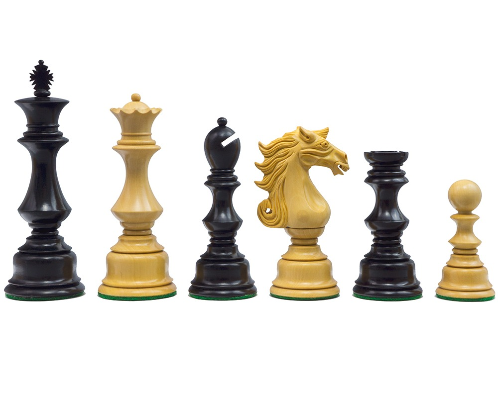 The Sun Tzu Ebony Chessmen 5 inch